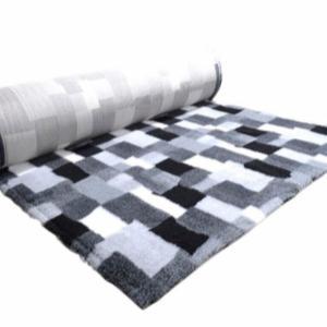 Tæppe med patchwork