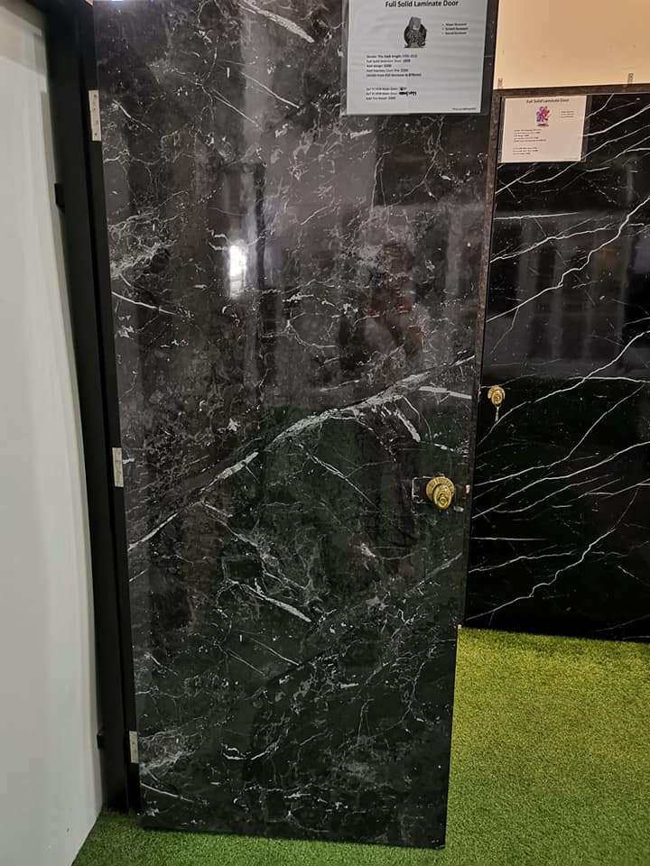Call 96177025 to buy Black Marble Design Door and Fire rated HDB door Singapore sales