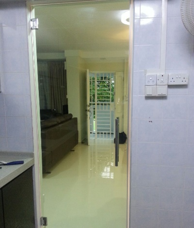 Clear Glass Swing Door