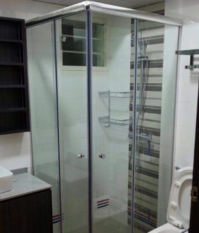 L Shape Glass Shower Screen
