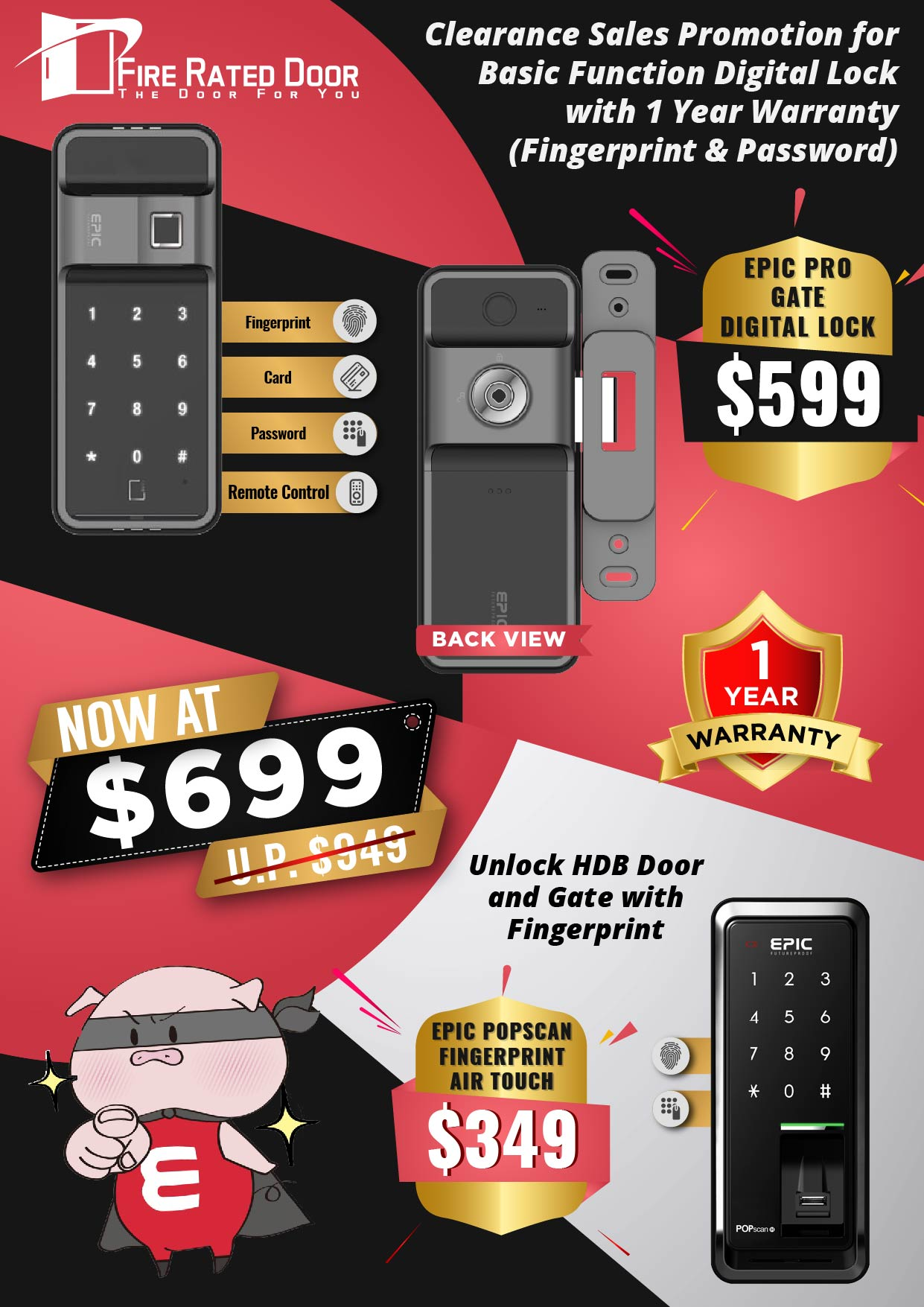 EPIC Clearance Sales Digital Lock