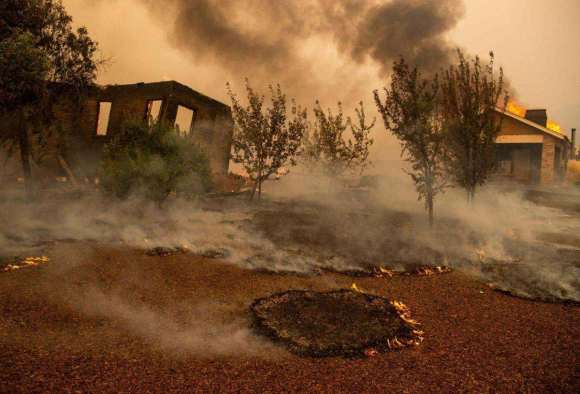 bark mulch kincade wildfire