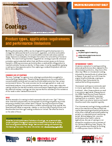 IBHS Coatings and Wildfire Fact Sheet
