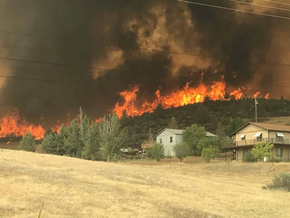 Klamathon Fire July 2018. Photo by Pat Titus