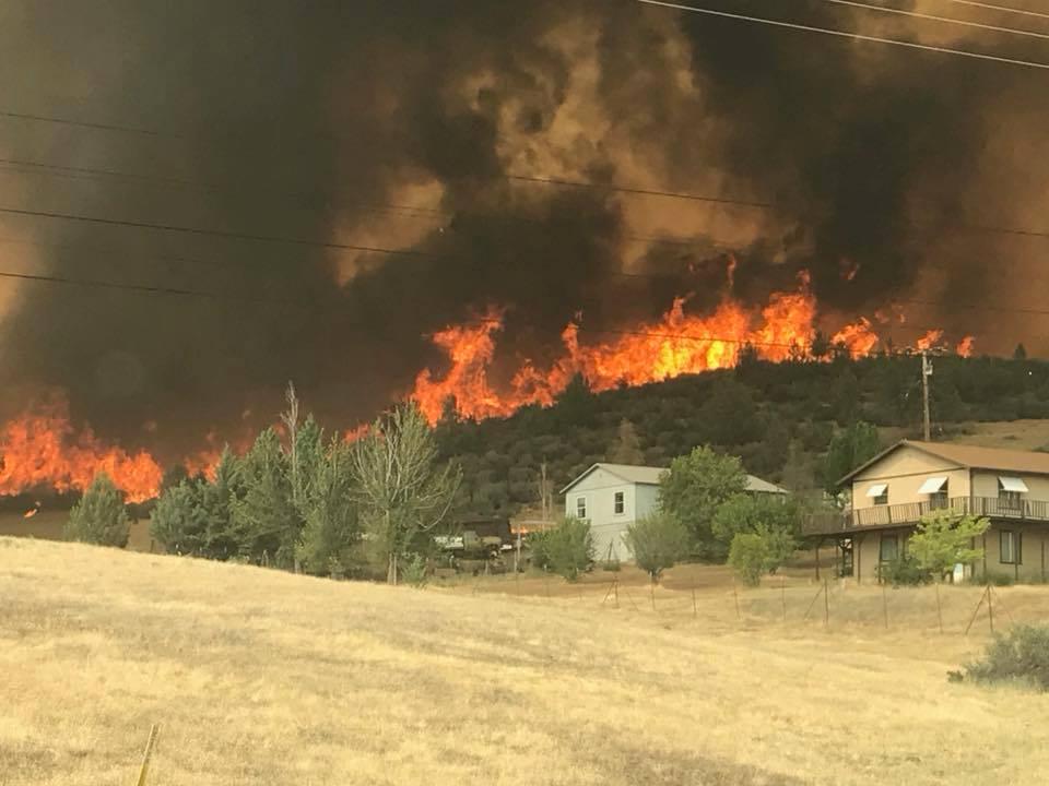 Klamathon Fire July 2018. Photo by Pat Titus