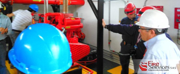 Sistema de bombeo contra incendios