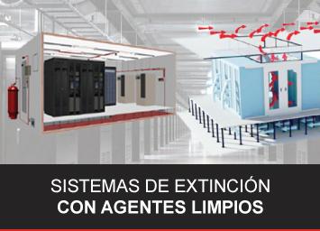 Sistemas de extinción con agentes limpios