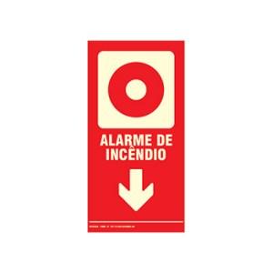 Placa de Sinalização – Alarme de Incêndio