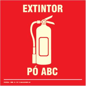 Placa de Sinalização – Extintor de Pó ABC