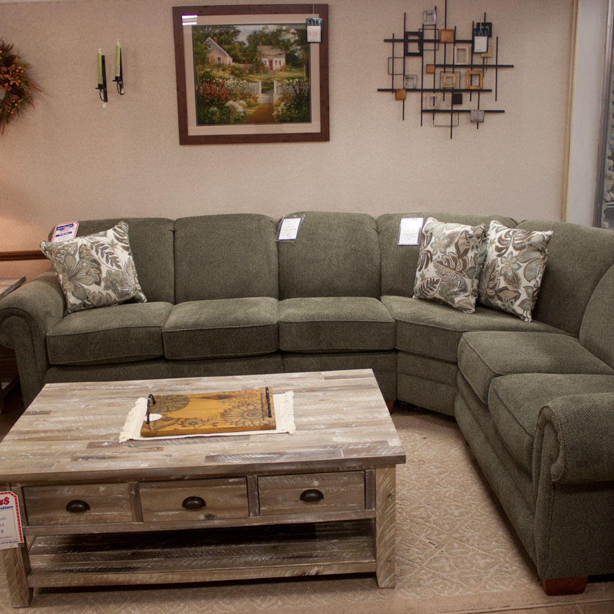 sectional with curved corner wedge with fireside furniture in nj