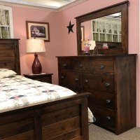 rustic farmhouse bedroom set, solid construction and