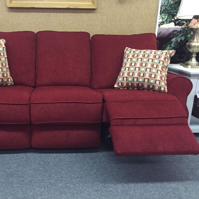 power reclining sofa made in usa small curved corner uk this with box seat cushions high density cores