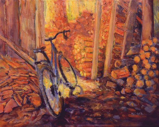Bike in the Wood Shed: Hornby Island