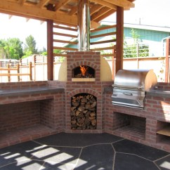 Outdoor Kitchen Oven Cabinets Fort Myers With Wood Fired And Grill Firespeaking Itself This Project Feels Like It Synthesizes Many Skills We Have To Offer Is A Very Functional Design For Which