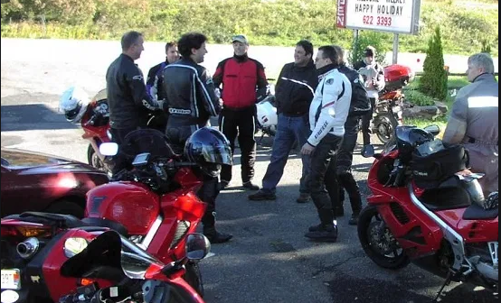 Planning a group motorcycle ride