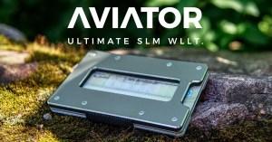 Aviator Ultimate Slim Wallet - Vollwertiges Portemonnaie aus Alu