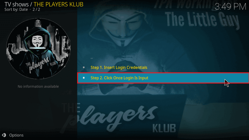 Open The Players Klub IPTV Addon