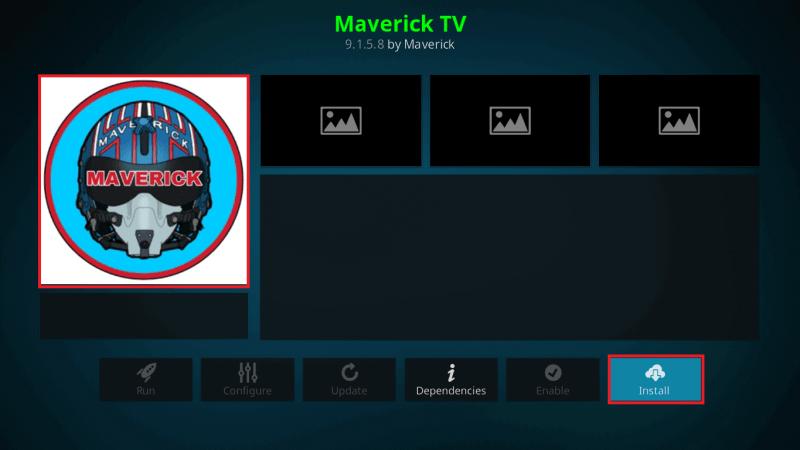 Install Maverick TV Addon