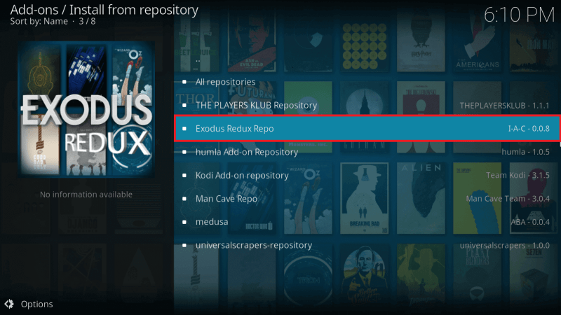 Select Exodus Redux Repo