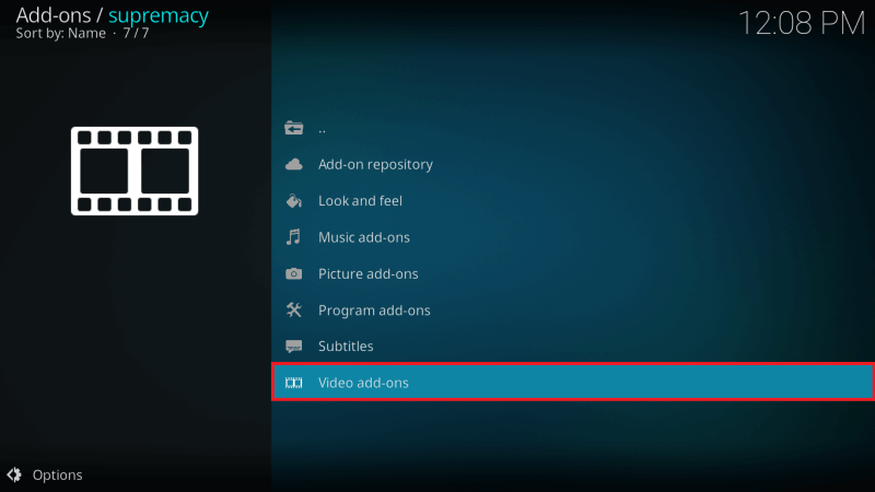 Select Video Addons from Supremacy Repo