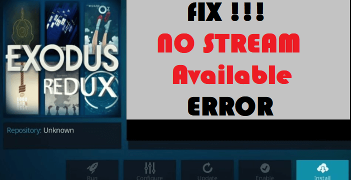 How to Fix Exodus Redux No Stream Available Error