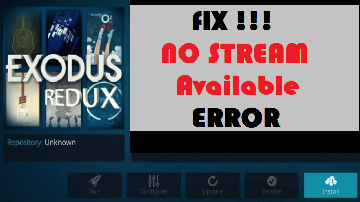 How to Fix Exodus Redux No Stream Available Error