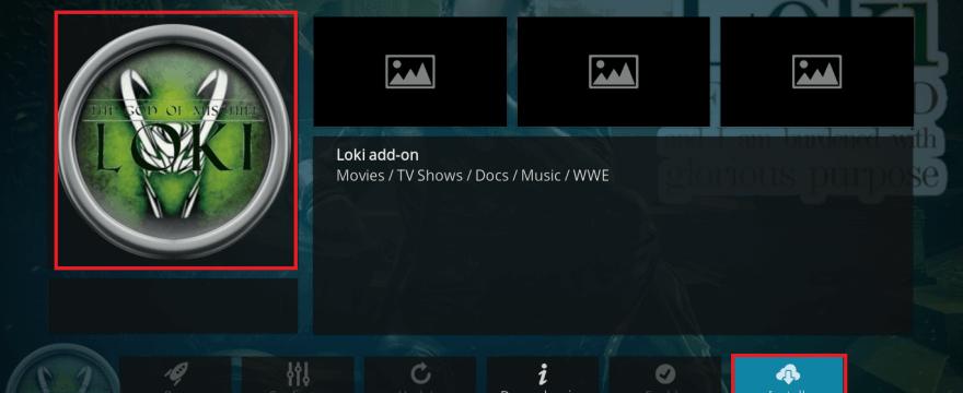 Install Loki Kodi Adodn on Leia
