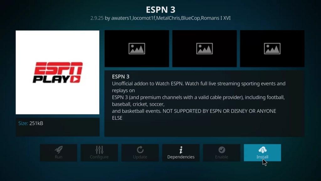 ESPN on Firestick