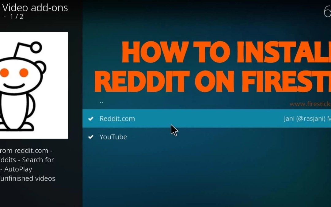 How to Install Reddit on Firestick / Fire TV Using Kodi