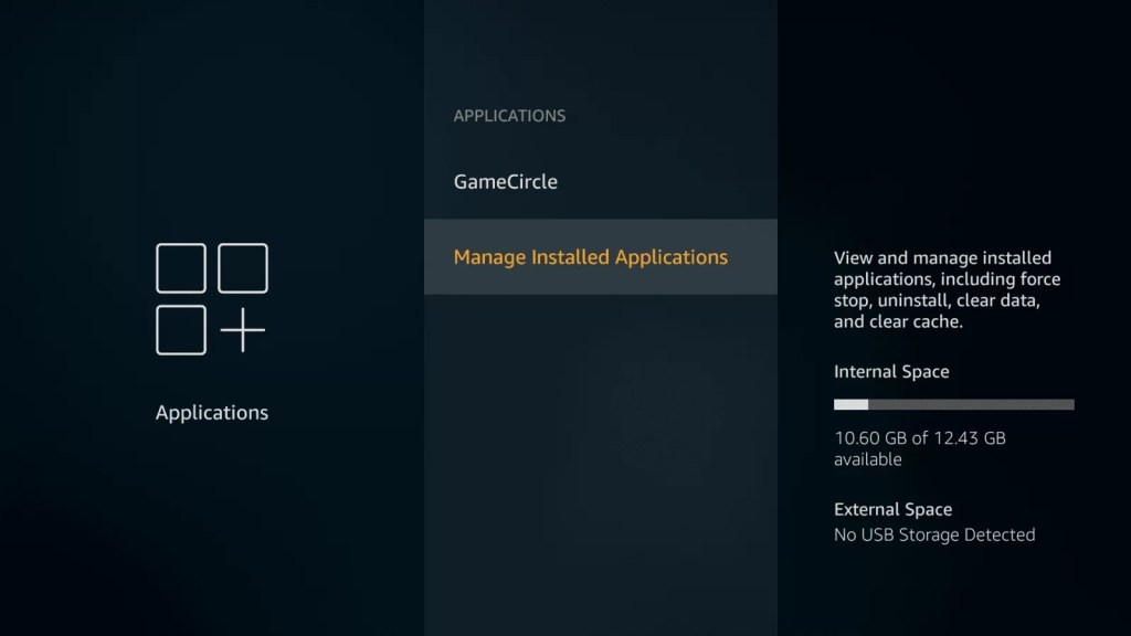 Uninstall the unused Firestick Apps