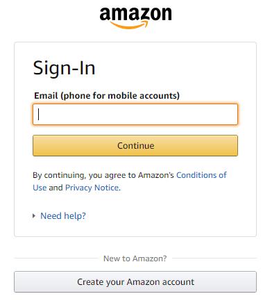 Login to Amazon Account
