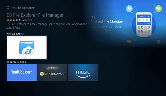 Select ES File Explorer