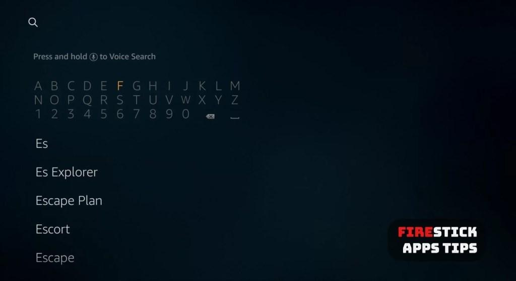Search on firestick