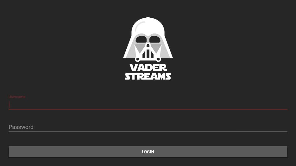 Vader Streams on Firestick