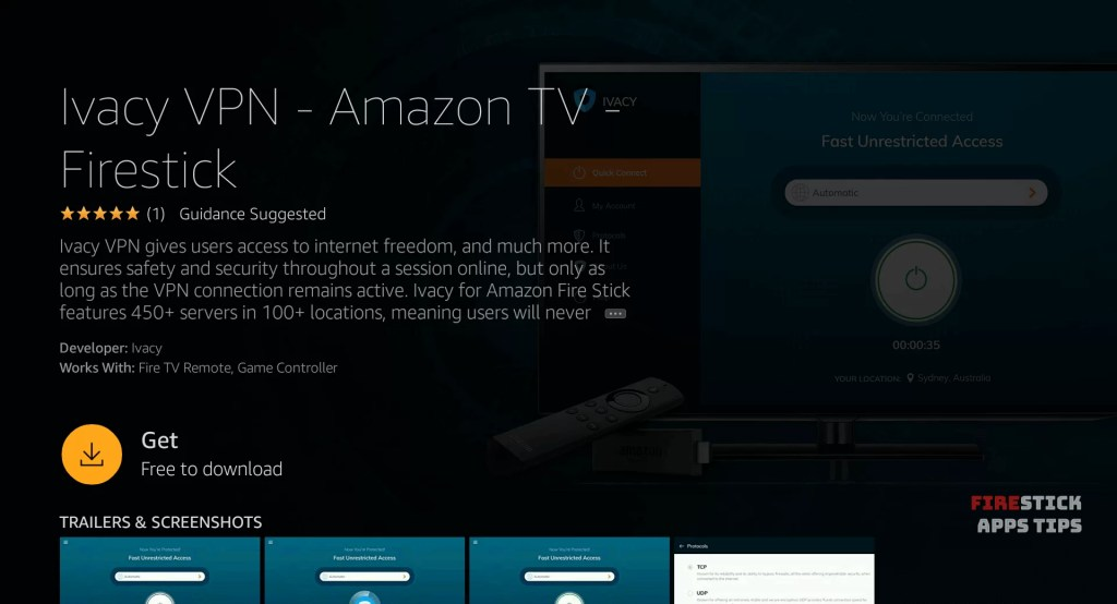 How to Install Ivacy VPN on Firestick / Fire TV - Firesticks