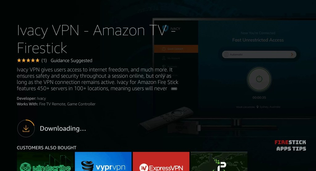 Ivacy VPN Firestick