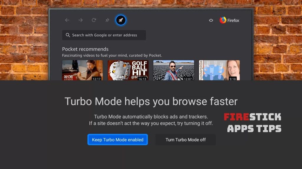 Firefox app Firestick