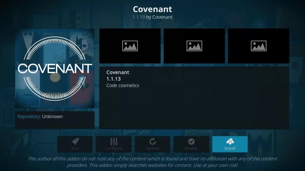 install Covenant Kodi Addon