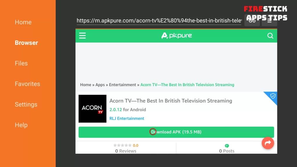 Acorn TV on Firestick