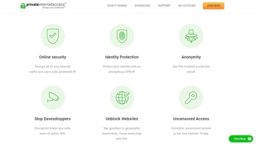 Private internet access vpn features