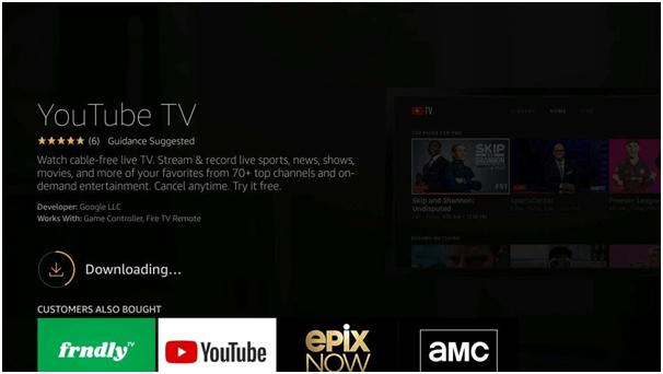 Downloading Youtube TV App