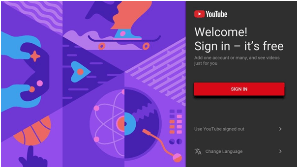Sign into Youtube App after Installation