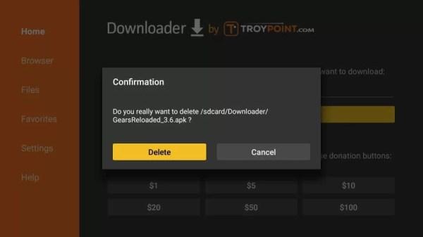 Confirm Delete Gears TV Reloaded IPTV