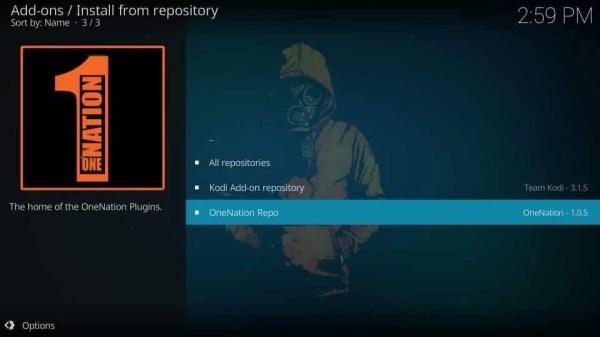 Select OneNation Repo - Deceit Kodi Addon