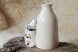 Spotty Dog Vase