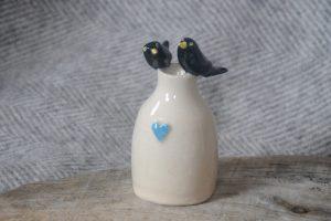 Firestone Studios Blackbird Vase