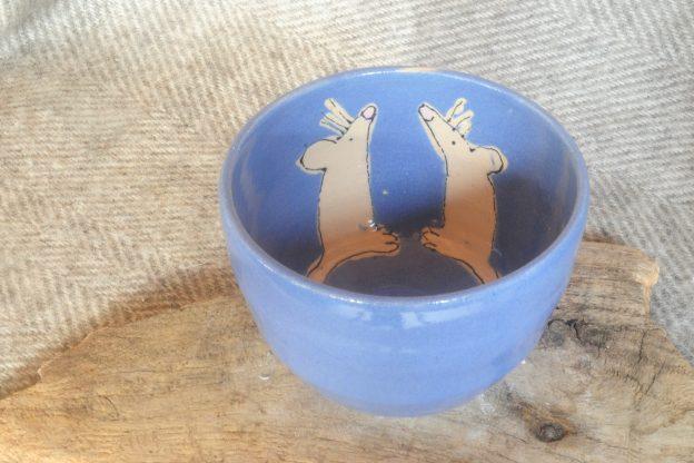 Firestone Studios Blue Mouse Bowl