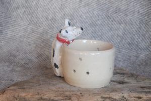 Firestone Studios Spotty Dog Tealight Holder