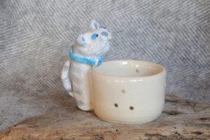 Firestone Studios Tabby Cat Tealight Holder