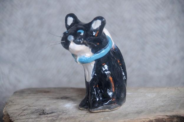 Cat Sitting Black